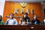 Keterangan pers KPAI dan LSM Nawala terkait video mesum anak, Rabu (27/5/2015). (JIBI/Solopos/Antara/Indrianto Eko Suwarso)