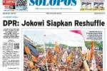 Halaman Depan Harian Umum Solopos edisi Rabu, 6 Mei 2015