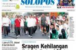 Halaman Depan Harian Umum Solopos edisi Senin, 25 Mei 2015