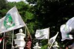 Ilustrasi demo Kesatuan Aksi Mahasiswa Muslim Indonesia (KAMMI) (Septian Ade Mahendra)
