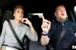Justin Bieber bersama James Corden dalam acara The Late Late Show (Dailymail.co.uk)