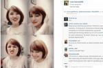 Marshanda pamer gaya rambut baru di Instagram (Istimewa)