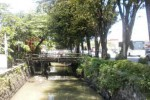 Saluran drainase di sebelah timur Jl. Jendral Sudirman, Sukoharjo, bakal disulap menjadi area city walk dan jalur lambat dengan anggaran senilai sekitar Rp30 miliar dari APBD 2015. Foto diambil, Kamis (7/5/2015). (Moh. Khodiq Duhri/JIBI/Solopos)