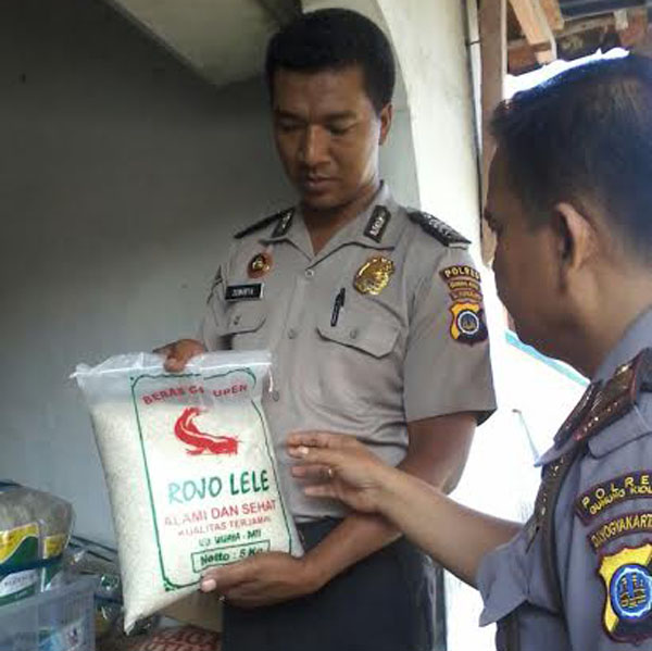 Beras diduga plastik yang ditemukan warga Rongkop, Gunungkidul. (JIBI/Harian Jogja/Uli Febriarni)