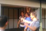 Pengurus Himpunan Pedagang Pasar Klewer (HPPK) Solo bersama Tim 9 menggelar pengecekan kondisi kios pasar darurat Klewer, Senin (25/5/2015) .(JIBI/Solopos/Irawan Sapto Adhi)