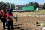 Latihan memanah menghadapi Porda 2015 (JIBI/Harian Jogja/Uli Febriarni).