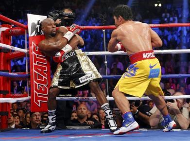 Pertandingan Floyd Mayweather melawan Manny Pacquiao (istimewa)