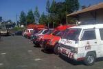 Ambulans bersiaga di Posko Evakuasi di Selo, Boyolali, Selasa (19/5/2015). (Oriza Vilosa/JIBI/Solopostv)