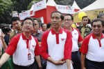 Presiden Jokowi membuka Pasar Rakyat Syariah 2015 di Parkir Selatan Senayan, Jakarta, Minggu (14/6/2015). (JIBI/Solopos/Antara/Yudhi Mahatma)