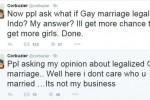 Kicauan Deddy Corbuzier tentang nikah sesama jenis (Istimewa/Twitter)