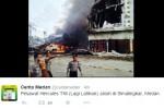 Penampakan pesawat jatuh di Jl. Djamin Ginting, Medan (Istimewa/Twitter)