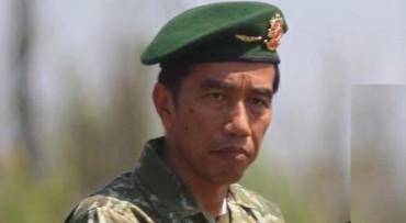 Presiden Joko Widodo alias Jokowi dengan seragam Kostrad (JIBI/Solopos/Antara/Nova Wahyudi)