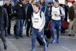 Pemain Argentina Lionel Messi tiba di hotel Radisson in Concepcion. JIBI/Rtr/Mariana Bazo