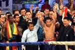 Petinju Indonesia Daud Yordan sukses mempertahankan sabuk juara seusai kalahkan Awuku. JIBI/Antara