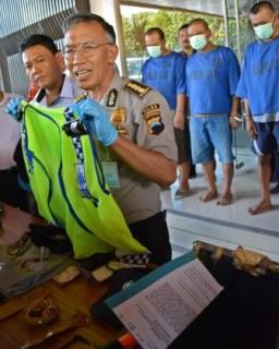 Gelar perkara perampok truk berbaju polisi di Mapolda Jateng, Semarang, Rabu (24/6/2015). (JIBI/Solopos/Antara/R. Rekotomo).