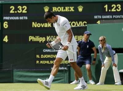 Petenis unggulan pertama Novak Djokovic melenggang ke babak kedua di Wimbledon 2015. JIBI/Rtr/Suzann