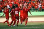 Pemain Persis berselebrasi di Piala Polda Jateng. Suporter minta Persis ikut Piala Kemerdekaan. (JIBI/Solopos)