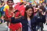 Aming saat mengikuti parade LGBTQ+ di New York, Amerika Serikat (Istimewa/Instagram)
