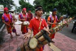 Kelompok kesenian di Malioboro. (JIBI/Harian Jogja/Desi Suryanto)