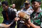 Bom yang ditemukan tertanam di belakang permakaman umum Dusun Nglongko, Kebonsari, Kabupaten Madiun, Jawa Timur, Rabu (1/7/2015). (JIBI/Solopos/Antara/Fikri Yusuf)