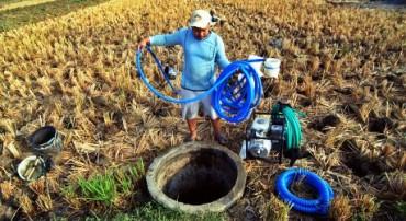 Ilustrasi petani kekeringan memanfaatkan air sumur untuk mengairi tanaman. (JIBI/Solopos/Antara/Aditya Pradana Putra)