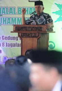 Amien Rais saat Pengajian Akbar dan Halalbihalal Muhammadiyah di Solo, Rabu (29/7/2015). (Sunaryo Haryo Bayu/JIBI/Solopos)