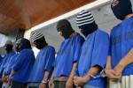 Para tersangka pencuri dengan modus pecah kaca mobil dalam gelar perkara di Semarang, Selasa (7/7/2015). (JIBI/Solopos/Antara/R. Rekotomo)