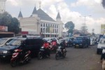 Ilustrasi kepadatan arus lalu lintas sekitar kawasan wisata Prambanan, Klaten. (Chrisna Canis Cara/JIBI/Solopos)