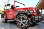 Replika Jeep Wrangler dari 4.500 kaleng bekas makanan. (Autoevolution.com)