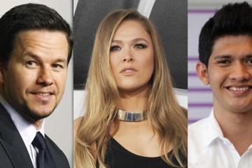 Mark Wahlberg (kiri), Ronda Rousey (tengah), dan Iko Uwais (kanan) bakal beradu akting di film Mile 22 (Istimewa)