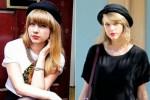 Rose (kiri) dan Taylor Swift (kanan). (Mirror.co.uk/Splash)