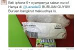 Danis Darusman mengeluhkan pesanan Iphone 6 Plus pesanannya yang keliru (Istimewa/Twitter)