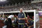 Manager baru Real Madrid Rafa Benitez menyaksikan timnya berlaga melawan AC Milan. JIBI/Rtr/Tyrone S
