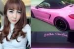 Bella Shofie pamer rambut baru dan mobil pink (Istimewa/Instagram)