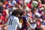Laga MU saat menaklukkan Barcelona 3-1 pada turnamen ICC 2015. JIBI/Reuters/dok