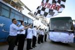 MUDIK LEBARAN 2017 : 15 Bus Siap Antar Warga Gresik Pulang Kampung Gratis