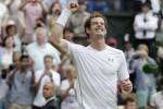 Petenis Inggris Andy Murray akhirnya memijak babak perempatfinal turnamen Wimbledon 2015. Ist/Rtr