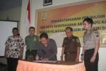 KPU, Polres, Kejari Wonogiri menandatangani MoU dalam menghadapi gugatan pilkada. (Trianto Hery Suryono/JIBI/Solopos)