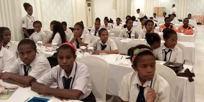 Anak asli Papua mengikuti pembekalan dalam program Afirmasi Pendidikan Menengah (Adem). (Detikcom)
