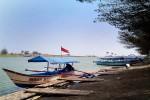 Sejumlah perahu wisata bersandar di dermaga Laguna Pantai Glagah yang semakin lama ketinggian air di kawasan itu terus menyusut, Selasa (18/8/2015). (JIBI/Harian Jogja/Holy Kartika N.S.)