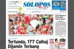 Halaman Depan Harian Umum Solopos edisi Minggu, 23 Agustus 2015