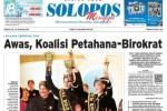 Halaman Depan Harian Umum Solopos edisi Minggu, 30 Agustus 2015