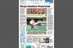 Halaman Depan Harian Umum Solopos edisi Senin, 31 Agustus 2015