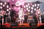 Grup band indie, Merah Bercerita, merilis album perdana yang ditampilkan di gedung Innovation Center Universitas Sebelas Maret (UNS), Laweyan, Rabu (26/8/2015) malam. Album perdana yang diberi judul sama dengan nama band tersebut berisi 10 lagu berisi kritik sosial. (Ayu Abriyani/JIBI/Solopos)