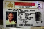 SIM pria bernama Saiton asal Palembang (Liputan6.com)