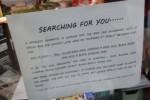 Tulisan pengumuman wanita yang mencari pria misterius (Mirror.co.uk)