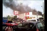 Foto yang menunjukkan kebakaran di Dealer Honda Astra Motor Palur, Mojolaban, Sukoharjo, Selasa (4/8/2015). (Istimewa/ @SoloUpdate)