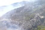 Kondisi lereng Merbabu yang terbakar. (Istimewa)
