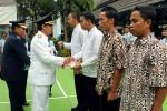 Empat narapidana Rutan Kelas IIB Wates mendapatkan remisi kemerdekaan di peringatan HUT RI ke 70, penyerahan diwakili Bupati Kulonprogo, Senin (17/8/2015). (Harian Jogja/Holy Kartika N.S)