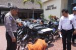 CURANMOR KARANGANYAR : Polisi Sita 32 Motor dan Pelat Palsu, 2 Pelaku Ditangkap